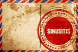 sinusitis, red grunge stamp on an airmail background