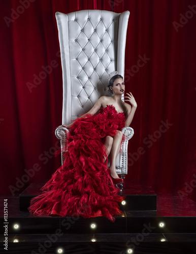 vamp girl on the throne Poster