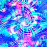 colorful digital art blue  vibrant  background