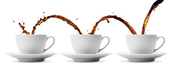 coffee flowing