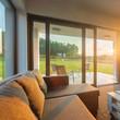 Sunset in modern living room