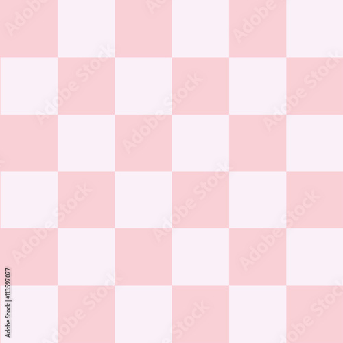 Pink White Chess Board Background Vector Illustration - 113597077