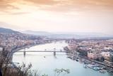 Budapest at dusk taken from Gellert Hill, Hungary