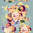 Beautiful seamless wallpaper pattern with rose flowers