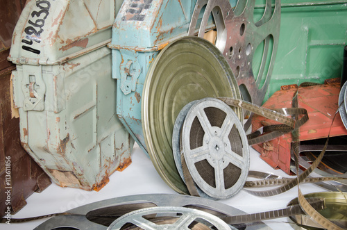 Poster group of film reels