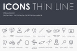 Stomatology Thin Line Icons