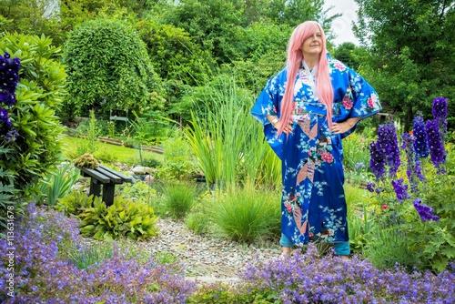Frau im Kimono, Cosplay