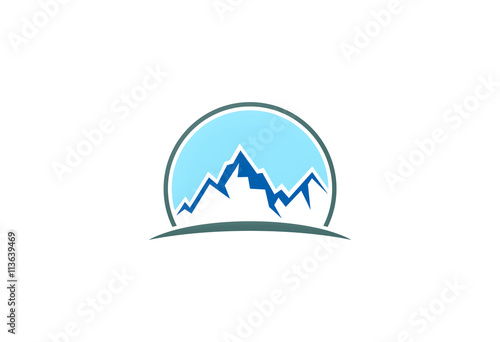 mountain ice vector logo