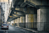 Fototapety Underclass. Rails on concrete in Osaka, Japan.