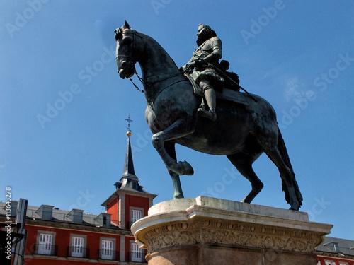 Estatua de Felipe III Poster