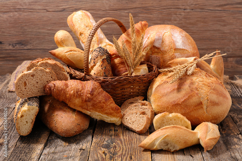 Fototapeta bread and pastry