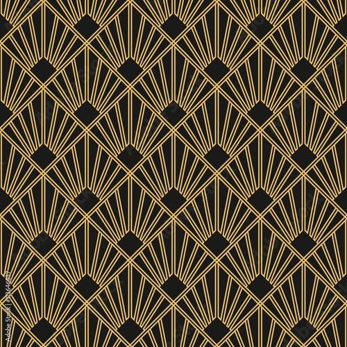 Fototapeta Art Deco seamless vintage wallpaper pattern