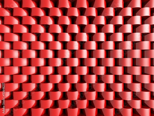 Abstract Red Round Pattern Wall Architecture Background