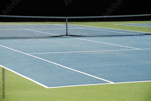 Fotobehang Tennis close up on tennis court