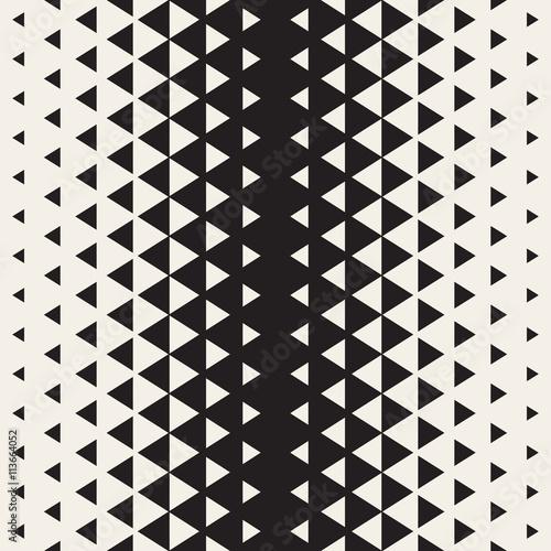 Fototapeta Vector Seamless Triangle Halftone Geometric Pattern
