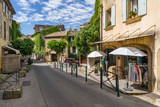 The hill top village of Lourmarin in the Luberon Provence