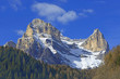 Monte Pelmo Peak, view from the village Zoppe di Cadore, Dolomite mountains - Italy, Europe, UNESCO World Heritage Site