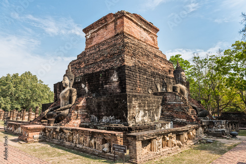 Plakat Temple in Sukhothai historical park