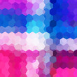 abstract background with pink, blue, white hexagons