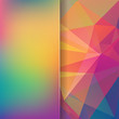 abstract background consisting of rainbow-colored triangles and