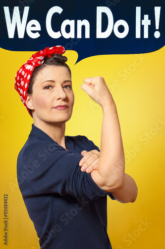 Poster We can do it photo rosie riveter