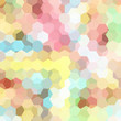 abstract background consisting of pastel hexagons, vector