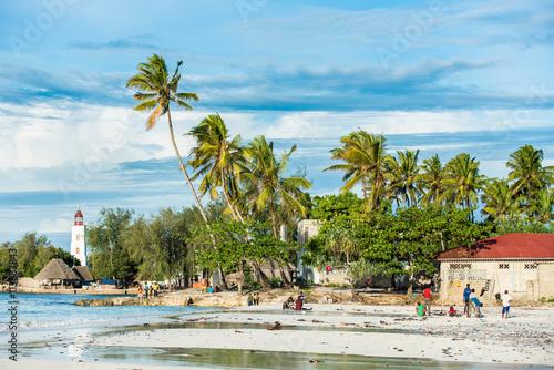 Aluminium Zanzibar Beach life in Zanzibar Island