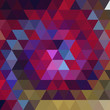 abstract background consisting of pink, purple triangles