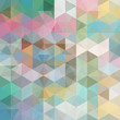 abstract background consisting of pastel colorful triangles