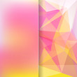 abstract background consisting of pink, yellow triangles