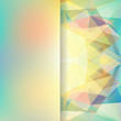 abstract background consisting of yellow, green triangles