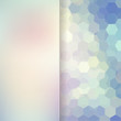 abstract background consisting of white, blue, pink hexagons