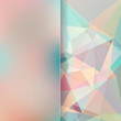 abstract background consisting of pink, blue, white triangles