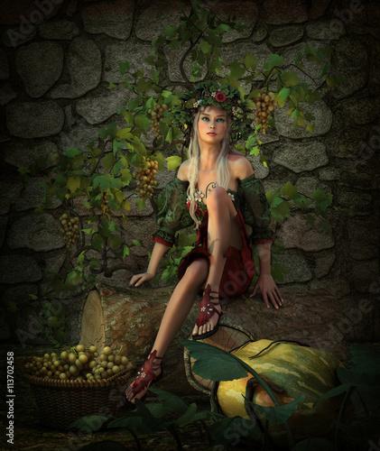 Deurstickers Retro Harvest Time, 3d CG