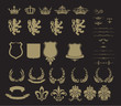 Set of heraldic symbol
