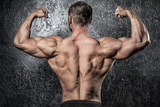 Man showing his muscular back