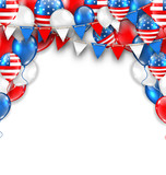 American Traditional Celebration Background for Holidays of USA