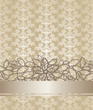 Golden champagne colour floral book cover