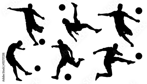 soccer shoot silhouettes