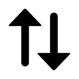 Up and down arrow flat icon for apps and websites