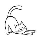 Cat concept. Cute cartoon animal icon. vector graphic