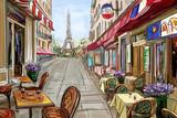 Street in paris - illustration concept