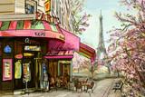 Street in paris - illustration concept - 113737080