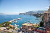 Vue sur la Marina Piccola et la baie à Sorrente