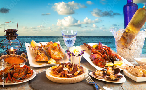 Naklejka beachfront seafood