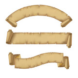 Parchment ribbons set