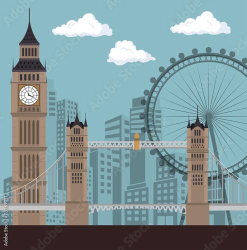 Zdjęcia na płótnie, fototapety, obrazy : england culture design, vector illustration eps10 graphic