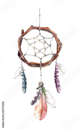 dream-catcher-with-feathers-watercolor