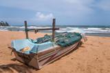 Fisherman boat at Mount Lavinia beach near Colombo