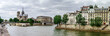 Seine river in Paris, panoramic view